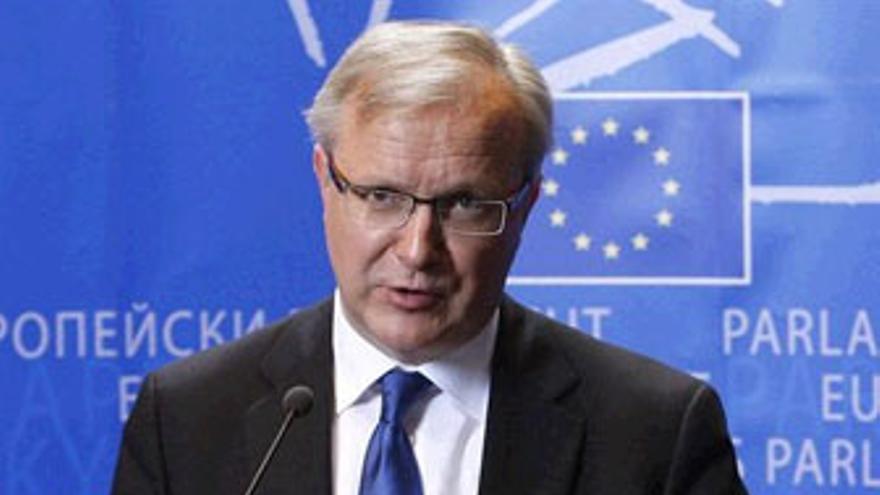 Oli Rhen, El comisario de Asuntos Económicos y Monetarios de la Unión Europea.