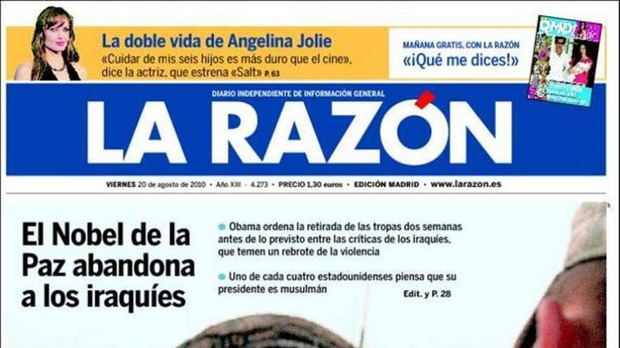 De las portadas del día (20/08/2010) #9