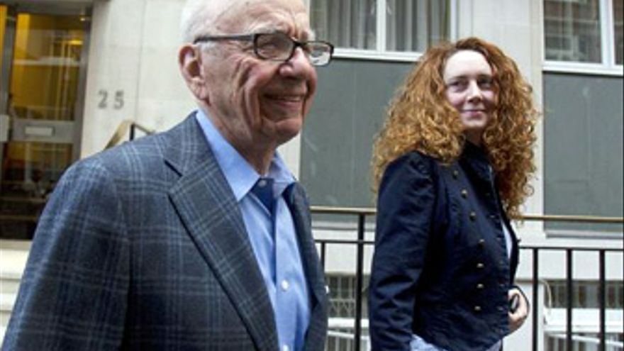 Rebeca Brooks y Rupert Murdoch. (EUROPA PRESS)