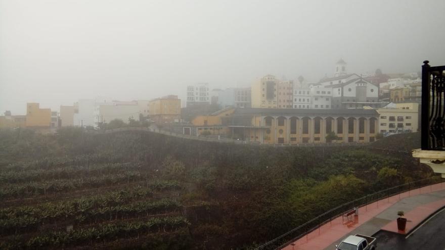 En la imagen, lluvia este domingo en San Andrés y Sauces.