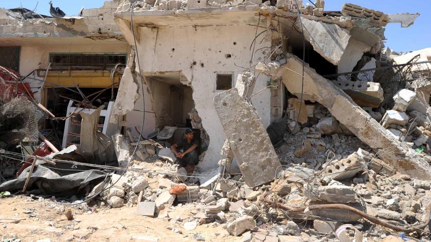 Casa destruida en Gaza tras el ataque israelí de 2014