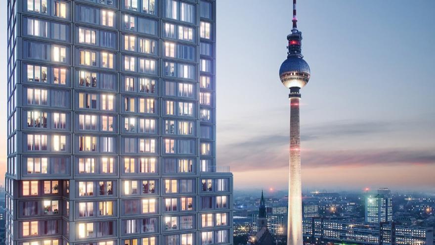 Captura de pantalla con la presentación del proyecto Berlin's Capital Tower