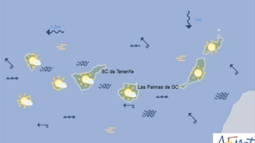 Mapa de la previsión meteorológica para el jueves 29 de diciembre