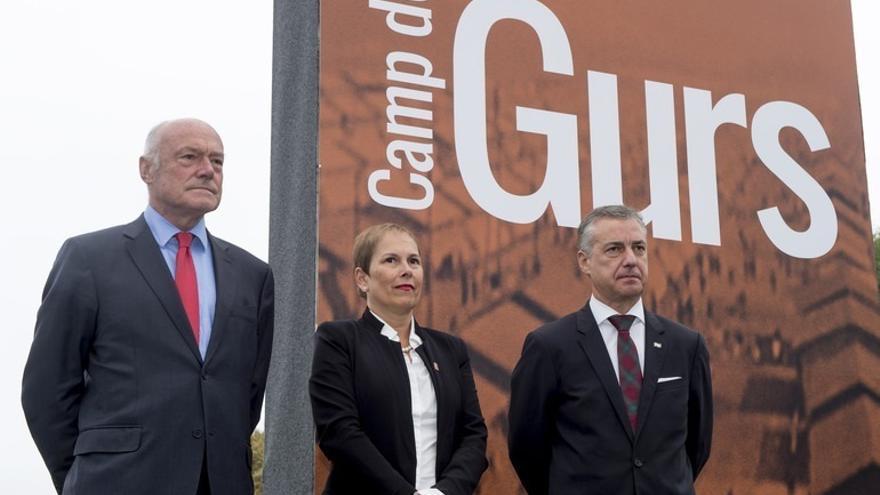"""Los Gobiernos vasco y navarro recuerdan """"la lucha por la libertad y la democracia"""" de los exiliados en el campo de Gurs"""