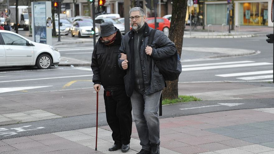Iosu Arruti padre y Iosu arruti hijo, a su llegada al juzgado.