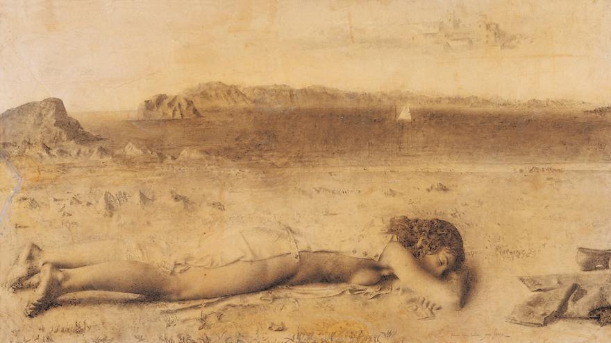 'Mujer en la playa', de Antonio López
