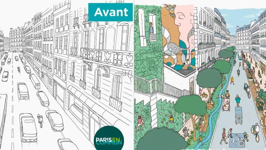 Proyecto 'La Ville du Quart d'Heure' presentado por la alcaldesa de París, Anne Hidalgo