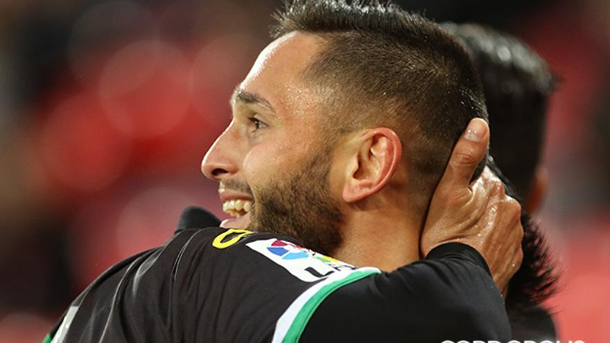 Florin Andone celebra un gol con el Córdoba | LOF
