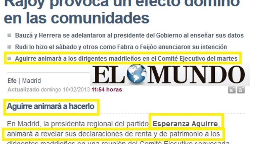 Aguirre animará a publicar las delcaraciones de la renta