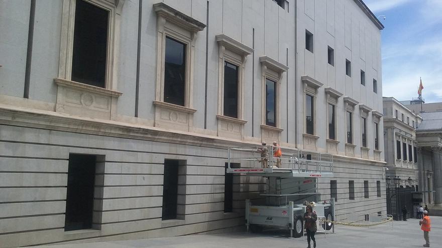 El Congreso revisa las cornisas de uno de sus edificios tras producirse desprendimientos