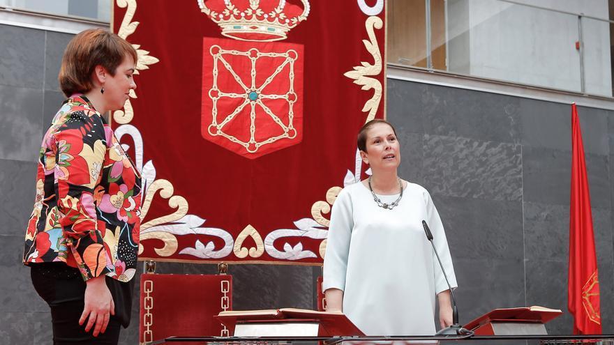 Ainhoa Aznárez, presidenta del Parlamento, y Uxue Barkos, presidenta de Navarra / Foto: cedida.
