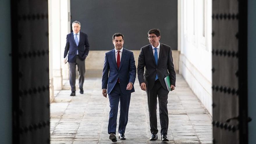 Juan Manuel Moreno y Juan Marín, presidente y vicepresidente del Gobierno andaluz.
