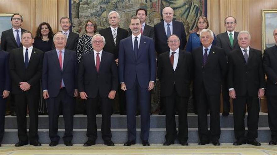 Felipe VI se reúne con la Asociación Iberoamericana de Cámaras de Comercio