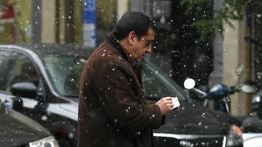 Primeros copos de Nieve en Madrid
