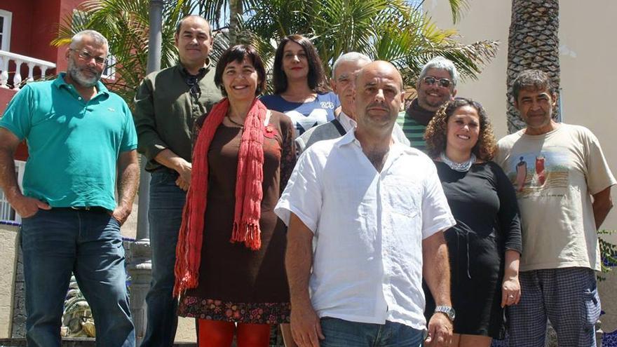 En la imagen, miembros de la lista de IUC al Ayuntamiento de Tazacorte.