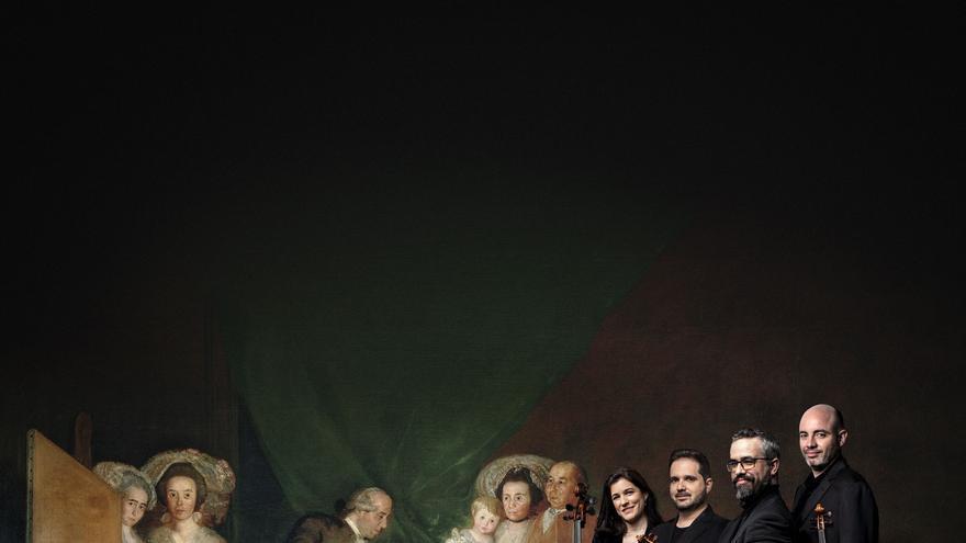 """Carátula del Cuarteto Quiroga en su último CD, """"Heritage"""" (Patrimonio), en el que homenajean a Goya"""