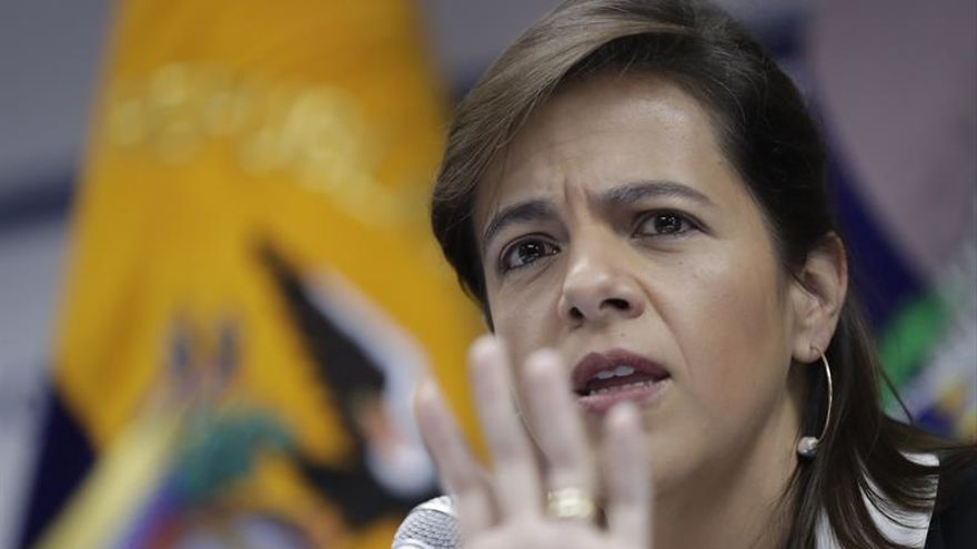 En la imagen, la ministra ecuatoriana de Gobierno, María Paula Romo.
