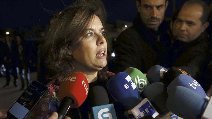 Sáenz de Santamaría: Cataluña mantiene su bienestar por la solidaridad de España