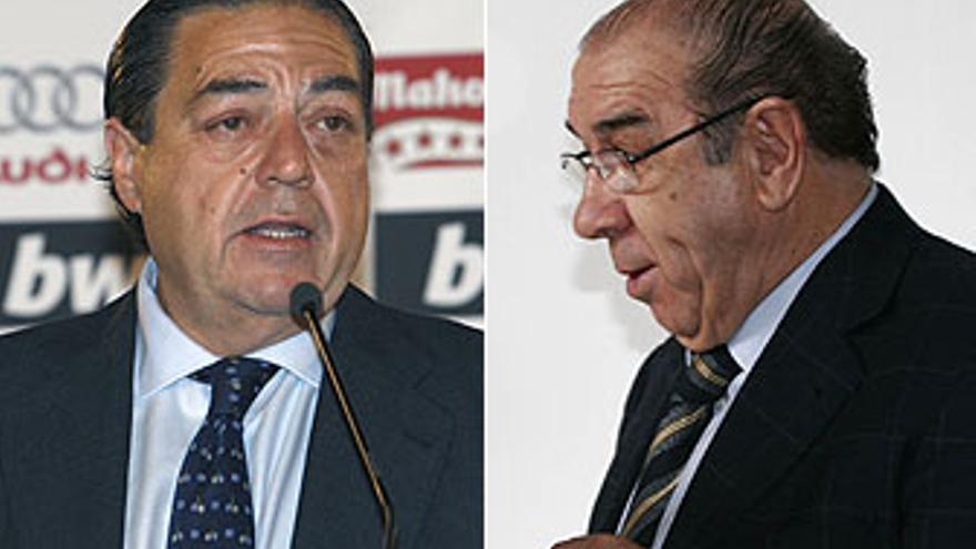 Vicente Boluda y Manuel Freire avalaron a la UD Las Palmas en 2002.