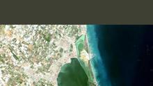 Manchas blanquecinas en el Mar Menor del 23 de octubre / Twitter de Mar Menor KO