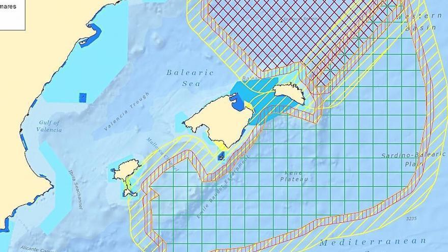Imagen de la zona a explorar en Baleares por la empresa 'Spectrum Geo Limited'.