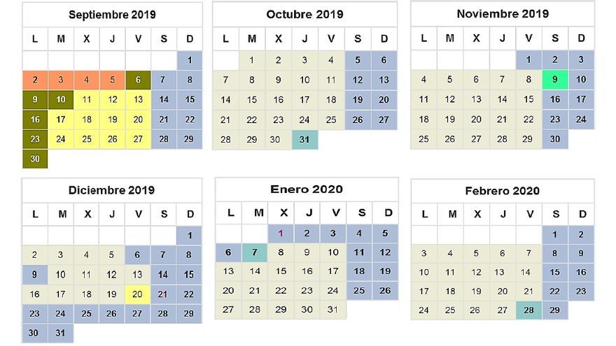 Calendario Escolar Madrid 2019-2020 - portada