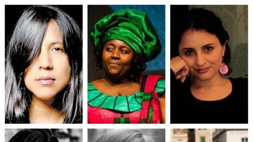 Gabriela Wiener, Alima Ngoutme, Paula Guerra, Consuelo Cruz, Julissa Jáuregui y Rita Bosaho, algunas de las mujeres migrantes entrevistadas.