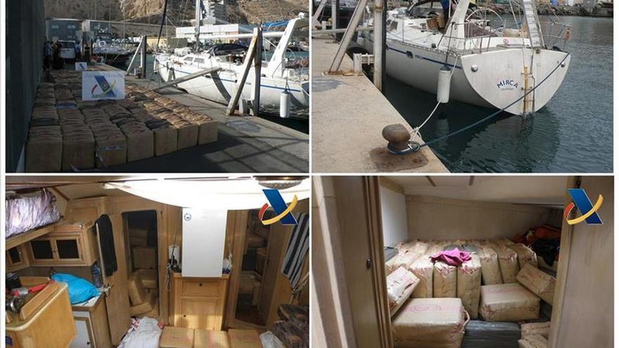Prisión sin fianza a los detenidos en Almería en un velero con 10 toneladas hachís