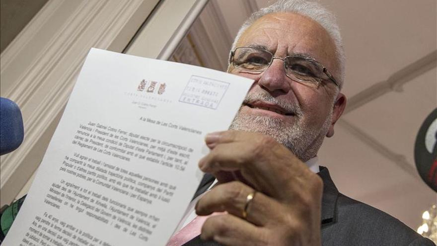 El expresidente de Les Corts y exconseller Juan Cotino.
