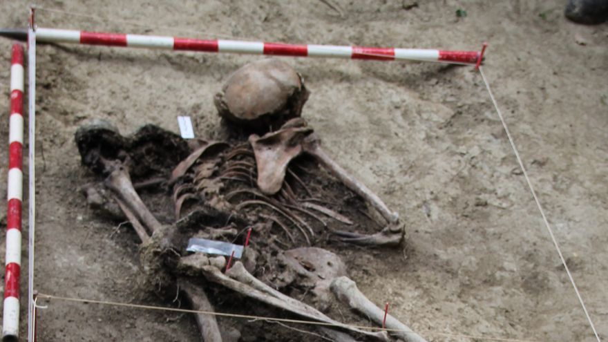 La exhumación en Egüés / Foto: Txinparta - Fuerte San Cristóbal. Red de Memoria Colectiva.
