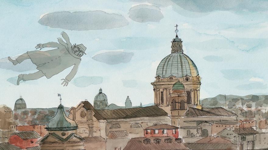 Viñeta de 'Fellini en Roma'