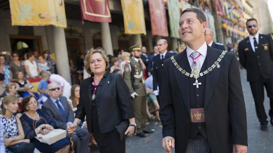 El socialista García Page en la procesión del Corpus Christi de Toledo