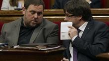 Puigdemont i Junqueras discrepen sobre qui ha de poder votar a la consulta de BCN World