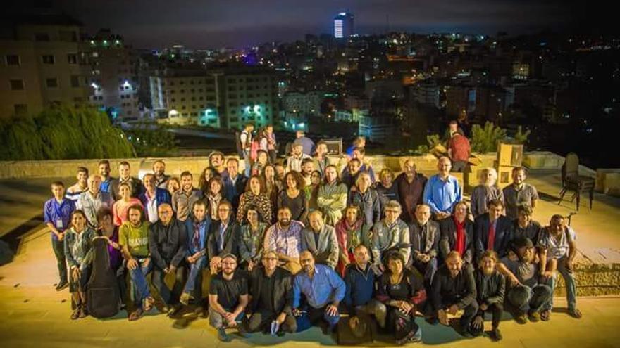 Participantes en el Festival Voix Vives de Palestina