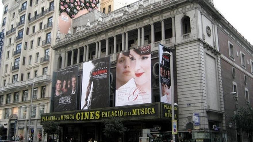 El antiguo cine Palacio de la Música // Foto: Madrid, Ciudadanía y Patrimonio