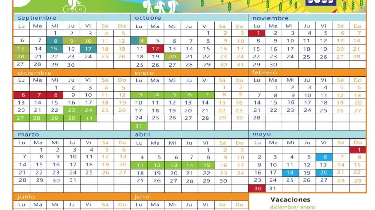 Calendario escolar Canarias 2021-2022