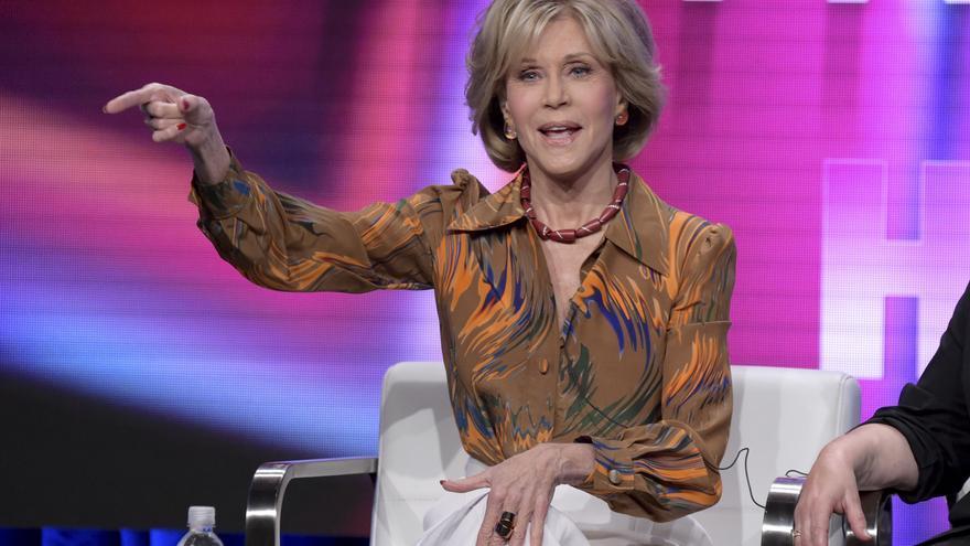 Jane Fonda durante la presentación del documental sobre su vida en HBO