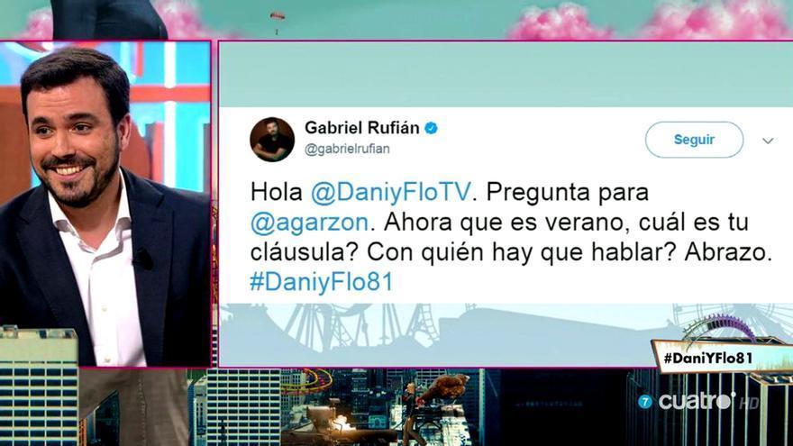 La respuesta de Alberto Garzón a la propuesta de Gabriel Rufián en Dani y Flo