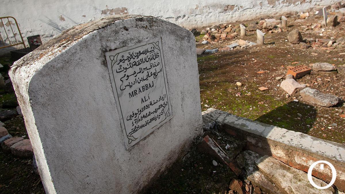 Cementerio musulmán en el cementerio de la Salud