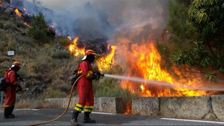Imágenes del incendio de Ávila.