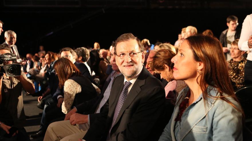 Mitin del presidente del Gobierno  Mariano Rajoy en Infecar, Gran Canaria. (ALEJANDRO RAMOS)