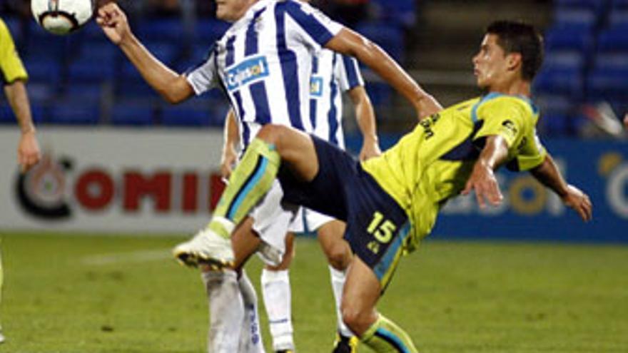 La UD Las Palmas cayó en Huelva el 7 de octubre en la Copa del Rey. (ACFI PRESS)