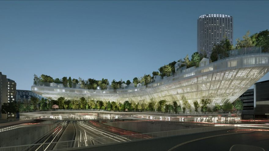 El proyecto 'Mil árboles', que se construirá sobre uno de los tramos de la circunvalación parisina. / © DR