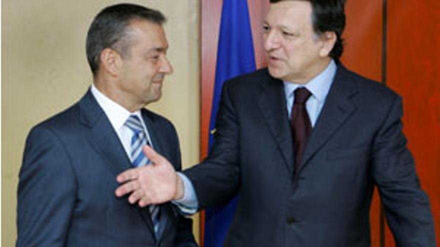 Paulino Rivero con Durao Barroso. (ACFI PRESS)