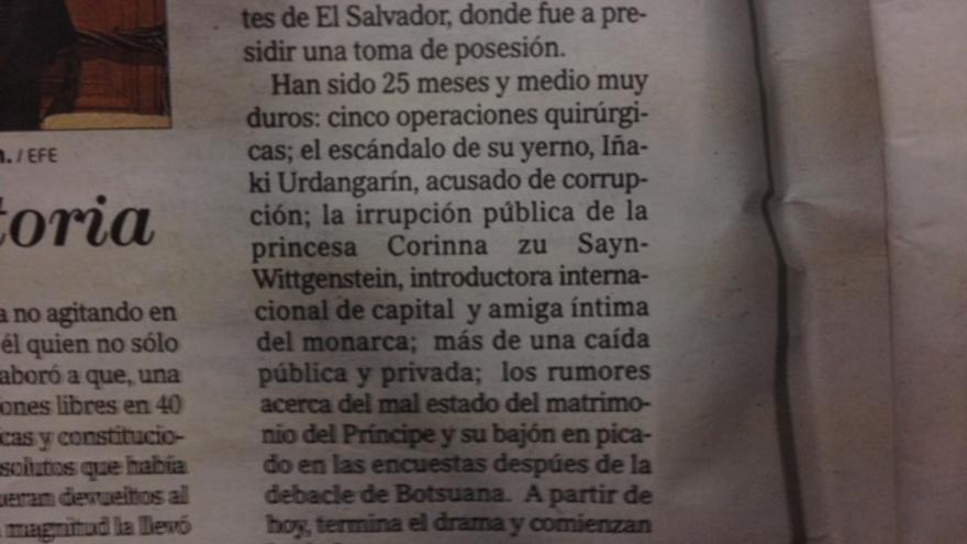 "Corinna, ""amiga íntima""."