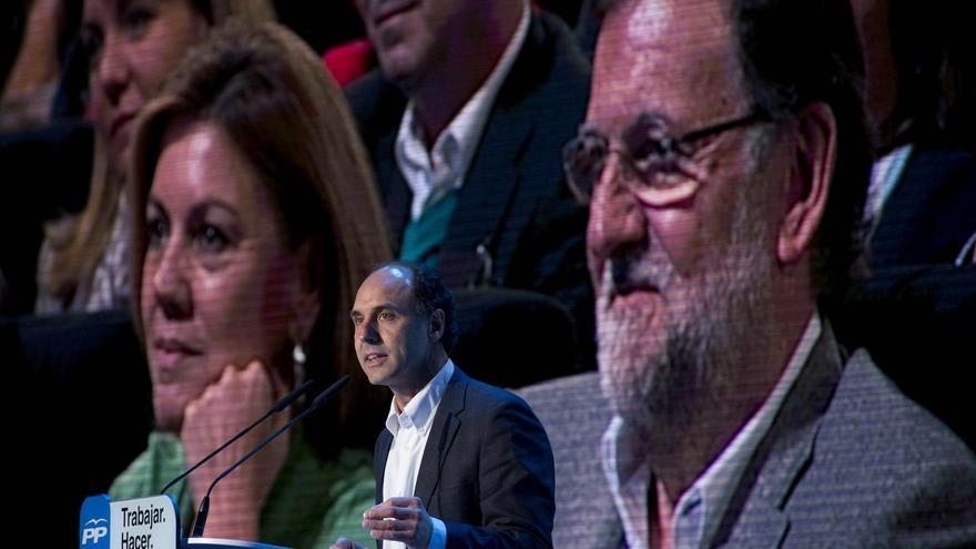 Ignacio Diego durante su intervención en el acto de presentación de los candidatos autonómicos del PP.