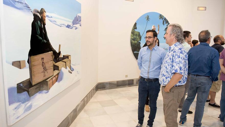 Inauguración de la exposición `Los Johanssen´ en El Batel y el Palacio Consistorial de Cartagena