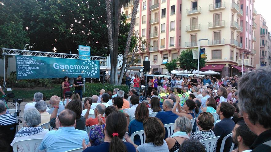 Asistentes a la presentación de Ganemos Málaga, en julio