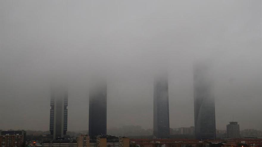 Las lluvias triplican el número de accidentes de tráfico en Madrid