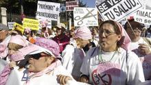 Imagen de archivo de la 'marea blanca' contra privatización sanitaria